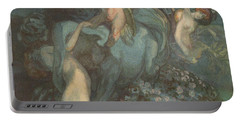 Centaur Nymphs And Cupid Portable Battery Charger by Franz von Bayros
