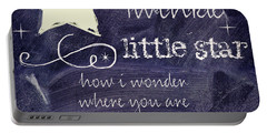 Chalk Board Nursery Rhymes Portable Battery Charger by Mindy Sommers