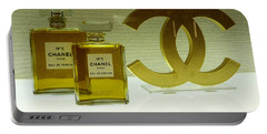 Chanel No 5 With Cc Logo Portable Battery Charger by To-Tam Gerwe