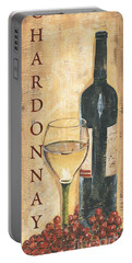 Chardonnay Wine And Grapes Portable Battery Charger by Debbie DeWitt
