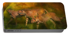 Cheetah World Portable Battery Charger by Carol Cavalaris