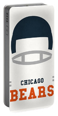 Chicago Bears Vintage Art Portable Battery Charger by Joe Hamilton