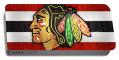 Chicago Blackhawks Barn Door Portable Battery Charger by Dan Sproul