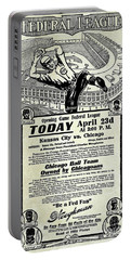 Chicago Cub Poster Portable Battery Charger by Jon Neidert