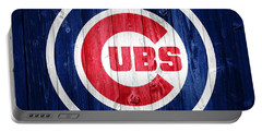 Chicago Cubs Barn Door Portable Battery Charger by Dan Sproul