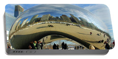 Chicago Reflected Portable Battery Charger by Kristin Elmquist