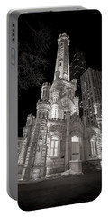 Chicago Water Tower Portable Battery Charger by Adam Romanowicz