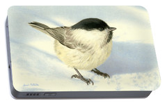 Chilly Chickadee Portable Battery Charger by Sarah Batalka