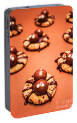 Chocolate Peanut Butter Spider Cookies Portable Battery Charger by Jorgo Photography - Wall Art Gallery