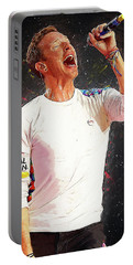 Chris Martin - Coldplay Portable Battery Charger by Semih Yurdabak