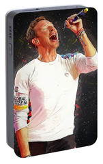Chris Martin - Coldplay Portable Battery Charger by Semih Yurdabak