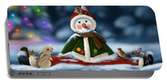 Christmas Party Portable Battery Charger by Veronica Minozzi