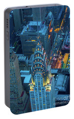 Chrysler Building Portable Battery Charger by Inge Johnsson