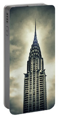 Chrysler Building Portable Battery Charger by Jessica Jenney