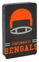 Cincinnati Bengals Vintage Art Portable Battery Charger by Joe Hamilton