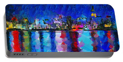 City Limits Tokyo Portable Battery Charger by Sir Josef Social Critic - ART