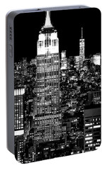City Of The Night Portable Battery Charger by Az Jackson