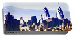 City Skyline Philadelphia Portable Battery Charger by Bill Cannon