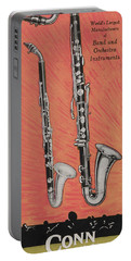 Clarinet And Giant Boehm Bass Portable Battery Charger by American School