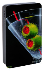 Classic Martini Portable Battery Charger by Michael Godard