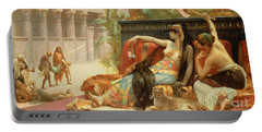 Cleopatra Testing Poisons On Those Condemned To Death Portable Battery Charger by Alexandre Cabanel