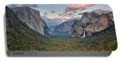 Clouds Over A Valley, Yosemite Valley Portable Battery Charger by Panoramic Images