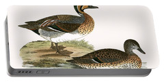 Clucking Teal Portable Battery Charger by English School