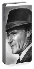 Coach Tom Landry Portable Battery Charger by Greg Joens