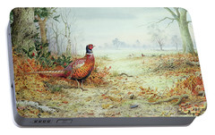 Cock Pheasant  Portable Battery Charger by Carl Donner