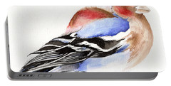 Colorful Chaffinch Portable Battery Charger by Nancy Moniz