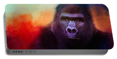 Colorful Expressions Gorilla Portable Battery Charger by Jai Johnson