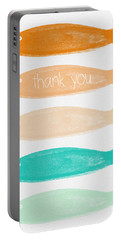 Colorful Fish Thank You Card Portable Battery Charger by Linda Woods