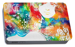 Colorful Jimmy Page Portable Battery Charger by Dan Sproul
