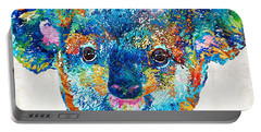 Colorful Koala Bear Art By Sharon Cummings Portable Battery Charger by Sharon Cummings