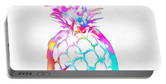 Colorful Pineapple Portable Battery Charger by Dan Sproul