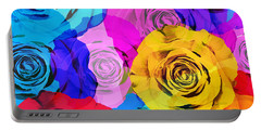 Colorful Roses Design Portable Battery Charger by Setsiri Silapasuwanchai
