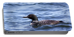 Common Loon Portable Battery Charger by Teresa Zieba