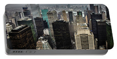 Concrete Jungle Portable Battery Charger by Martin Newman