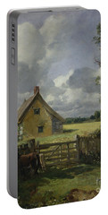 Cottage In A Cornfield Portable Battery Charger by John Constable
