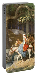 Country Folk Wending Their Way To The Tourney Portable Battery Charger by Newell Convers Wyeth