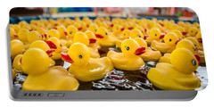 County Fair Rubber Duckies Portable Battery Charger by Todd Klassy