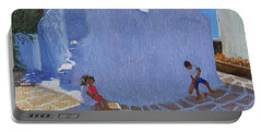 Cricket By The Church Wall, Mykonos  Portable Battery Charger by Andrew Macara