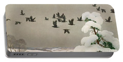Crows In Winter Portable Battery Charger by Newell Convers Wyeth