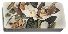 Cuckoo On Magnolia Grandiflora Portable Battery Charger by John James Audubon