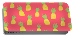 Cute Pineapples Portable Battery Charger by Allyson Johnson