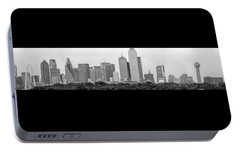Dallas In Black And White Portable Battery Charger by Jonathan Davison
