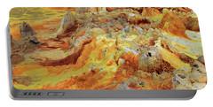 Dallol Volcanic Crater, Danakil Depression, Ethiopia Portable Battery Charger by Aidan Moran