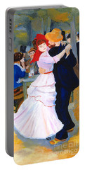 Portable Battery Charger featuring the painting Dance At Bougival After Renoir by Rodney Campbell