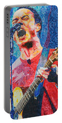 Dave Matthews Squared Portable Battery Charger by Joshua Morton
