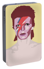 David Bowie Portable Battery Charger by Nicole Wilson